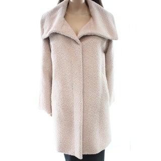 Max Mara NEW Powder Pink Women's Size 14 Button Down Wool Coat
