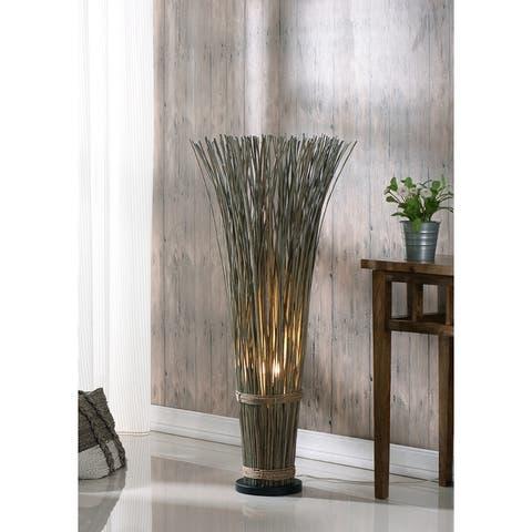 Coastal Reed 46-inch Natural Brown Bohemian Floor Lamp
