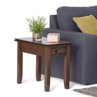 """Link to WYNDENHALL Stratford SOLID WOOD 14 inch Wide Rectangle Contemporary Narrow Side Table - 14""""W x 24"""" D x 20"""" H Similar Items in Living Room Furniture"""