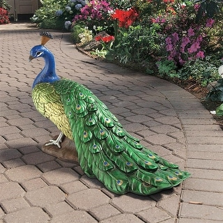 Design Toscano The Regal Peacock Garden Sculpture: Large