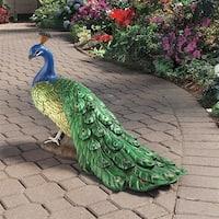 Design Toscano The Regal Peacock Garden Sculpture: Large