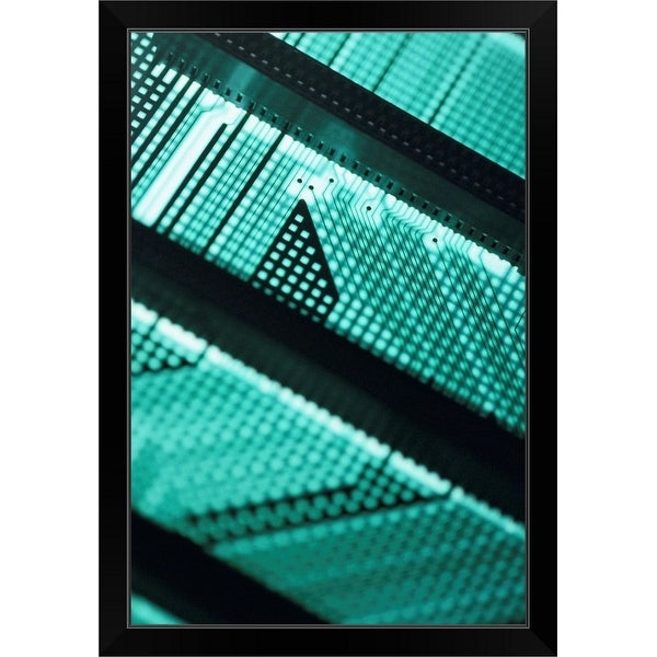 """Circuit board"" Black Framed Print"