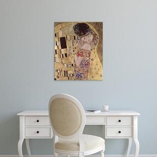Easy Art Prints Gustav Klimt's 'The Kiss Detail' Premium Canvas Art