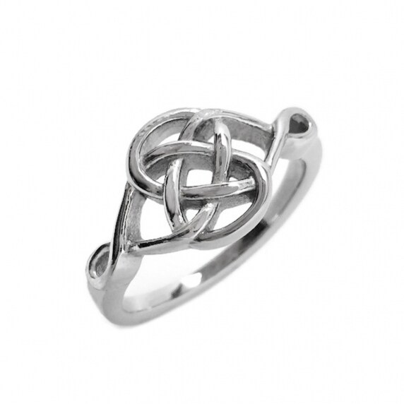 Loralyn Designs Stainless Steel Celtic Knot Promise Ring (Sizes 5-10)