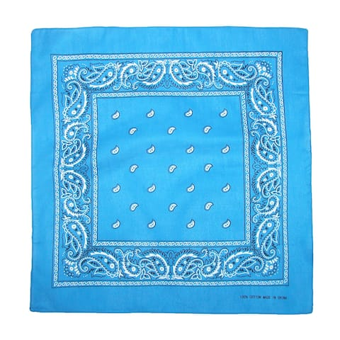 CTM® Individually Folded & Packaged Paisley Print Cotton Bandana - one size
