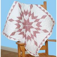 "Xx Diamond - Stamped White Wall Or Lap Quilt 36""X36"""