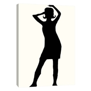 """PTM Images 9-108914  PTM Canvas Collection 10"""" x 8"""" - """"Fashion Icon Series 1960's"""" Giclee Silhouettes Art Print on Canvas"""