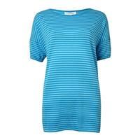 Calvin Klein Women's Striped Knit Dolman Cotton Top