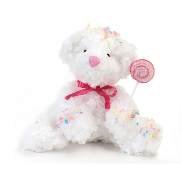 """Pack of 4 Cupcake Heaven Confetti Bear with Lollipop 8"""" - WHITE"""