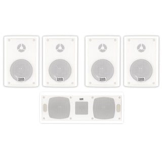 Acoustic Audio AA351W and AA40CW Indoor Speakers Home Theater 5 Speaker Set