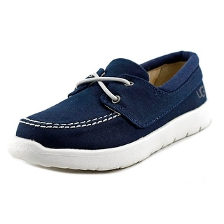 Ugg Australia Anchor Toddler Moc Toe Canvas Blue Boat Shoe