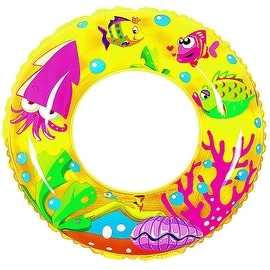 "24"" Yellow Sea Fish Children's Inflatable Swimming Pool Inner Tube Ring Float"