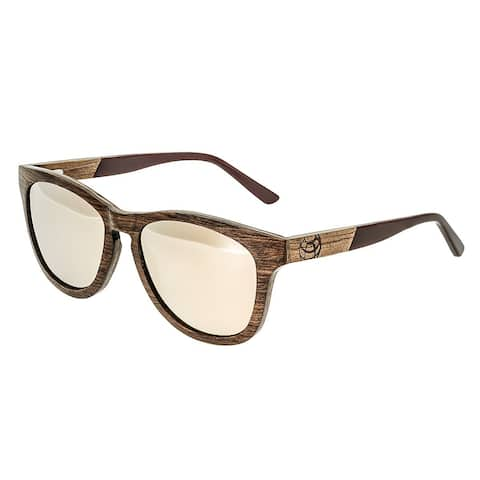 Earth Wood Cove Unisex Wood Sunglasses - 100% UVA/UVB Prorection - Polarized/Mirrored Lens - Multi