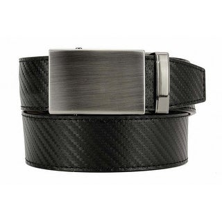 Nexbelt Black Carbon Fiber Dress Belt with Gunmetal Buckle with Jewel Box