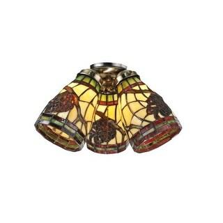 Meyda Tiffany 98994 Tiffany Glass Single Light Shade from the Pinecone Collection