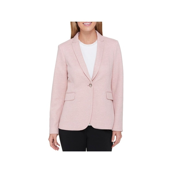 fa1d28fff0e Shop Tommy Hilfiger Womens One-Button Blazer Business Casual Work Wear -  Free Shipping On Orders Over  45 - Overstock - 23382561