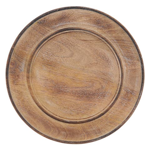 Charger Plates with Wooden Design (Set of 4)