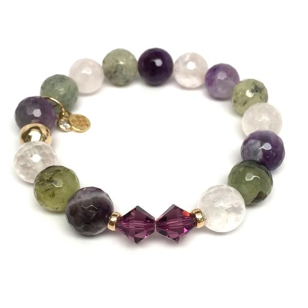 """Purple Amethyst Mix Paris 7"""" Bracelet"""
