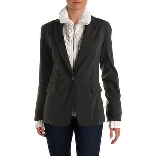 Aqua Womens Blazer 2-in-1 One Button