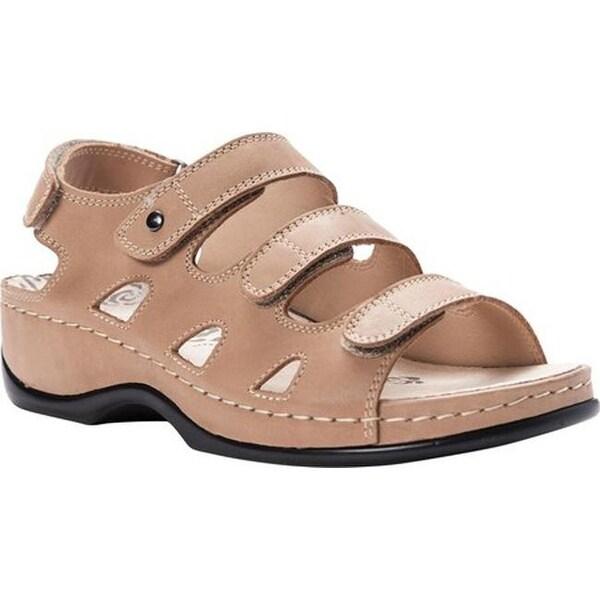 8575f434d2d Shop Propet Women's Kara Walking Sandal Bisque Full Grain Leather ...