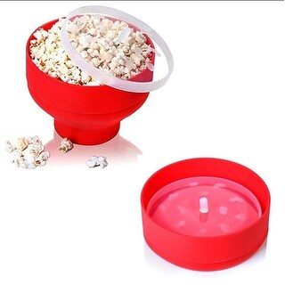 Silicone Microwave Popcorn Popper Maker Collapsible Container Home Kitchen