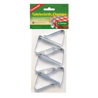 Coghlans 527 coghlans 527 tablecloth clamps - pkg of 6