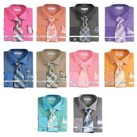 Men's Tone On Tone French Cuff Shirt Cufflinks