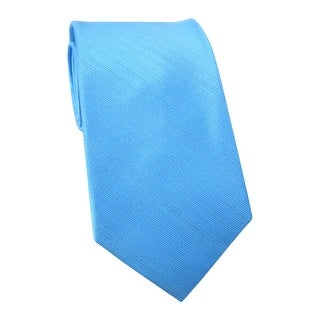 Calvin Klein CK Tonal Striped Classic Silk Neck Tie Aqua Blue