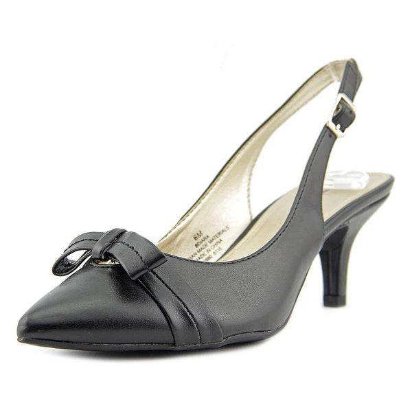 Bandolino Iara Women Pointed Toe Synthetic Black Slingback Heel