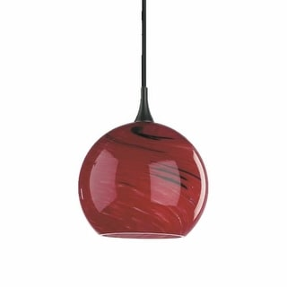 1 Light Mini Pendant with Glass Globe Shade