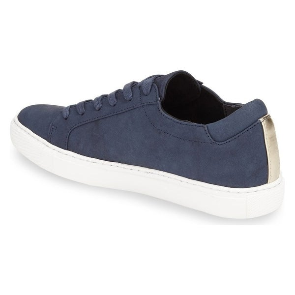 Kenneth Cole New York Womens kam Leather Low Top Lace Up Fashion Sneakers - 10