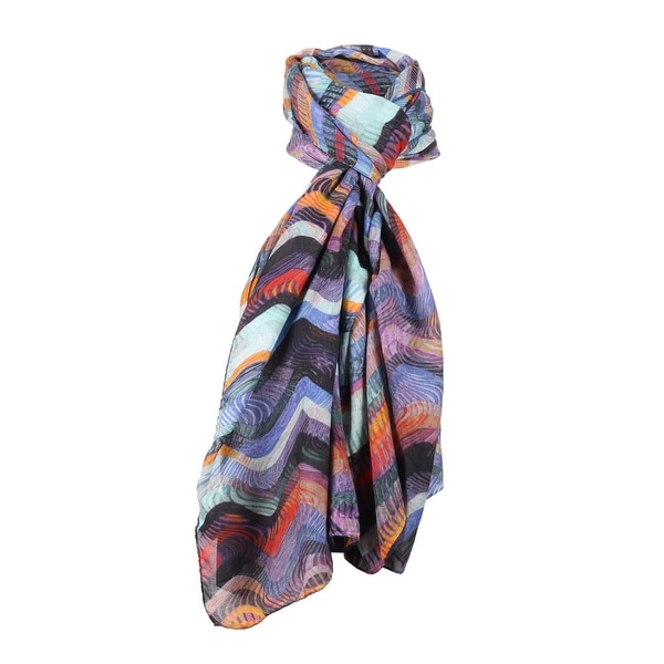 Missoni Blue Long Wave Signature Scarf - 28-79. Opens flyout.