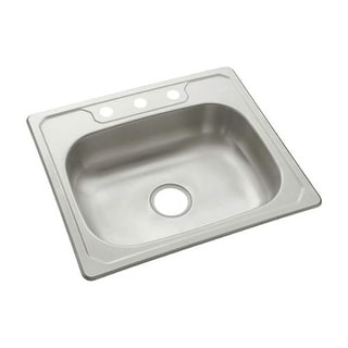 "Sterling 14631-3 Middleton 25"" Single Basin Drop In Stainless Steel Kitchen Sink - Stainless Steel"