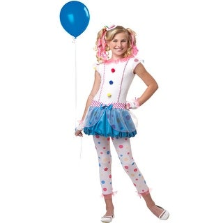 California Costumes Dotsy Clown Tween Costume - Rainbow