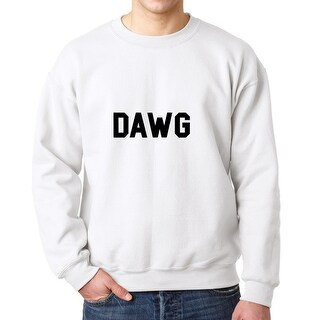 Dawg Internet Slang Words Men's White Sweatshirt