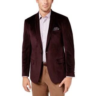 Tallia Mens Sportcoat Shawl Collar Velvet - 40r