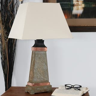 Outdoor Table Light Indoor outdoor table lamps for less overstock sunnydaze indoor outdoor copper trimmed slate table lamp 30 inch tall workwithnaturefo