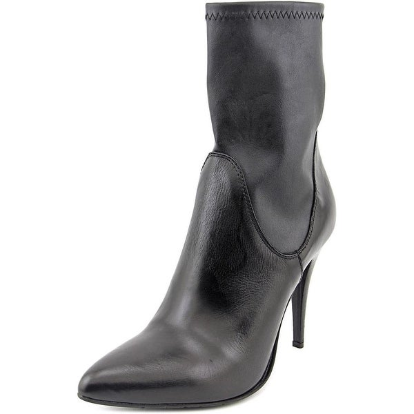 Charles David Kristi Women  Pointed Toe Leather Black Ankle Boot