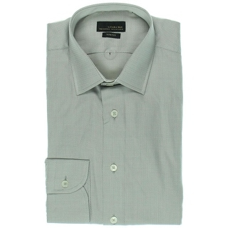 Zara Black Tag Mens Spread Collar Long Sleeves Dress Shirt