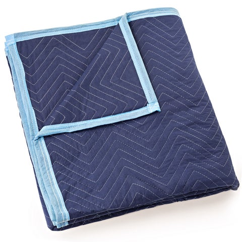 """Moving Blanket Furniture Pad - Deluxe Pro - 80"""" x 72"""" Royal Blue - ROYAL BLUE"""