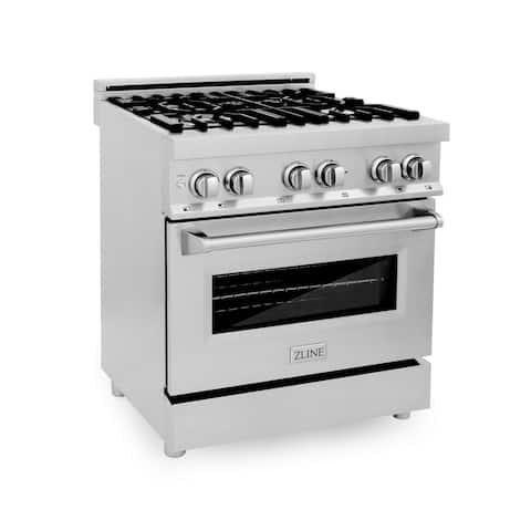 ZLINE Stainless Steel Professional Dual Fuel Oven Range