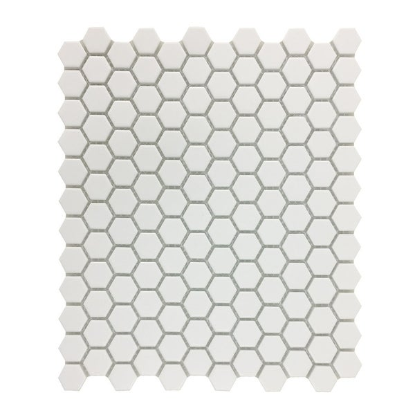 Shop Matte White Hexagonal Tile Porcelain For Floors Or Walls 193