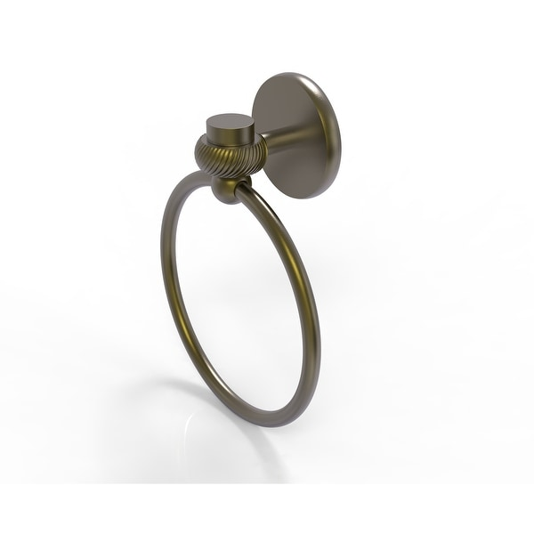 Allied Brass Satellite Orbit One Collection Towel Ring with Twist Accent