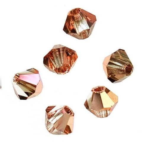 Preciosa Czech Crystal 4mm Bicone Beads 'Crystal Capri Gold' (50)