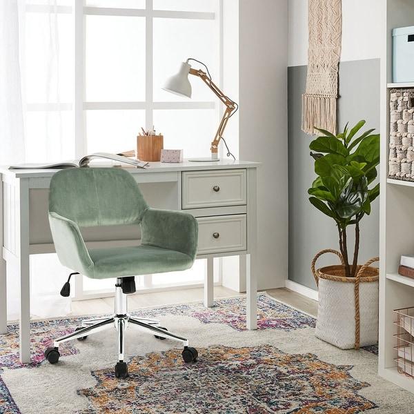 Porch & Den Sabrina Velvet Home Office Swivel Chair. Opens flyout.