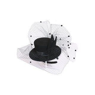 Womens Top Hat with French Netting
