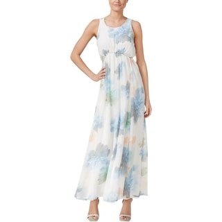 Calvin Klein Womens Maxi Dress Floral Print Sleeveless