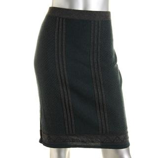 Studio M Womens Jeanette Pencil Skirt Knit Sweater