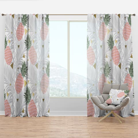 Carson Carrington Tannefors 'Pineappple On Tropical Leaves' Curtain Panel