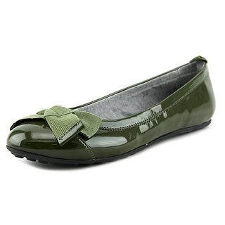 Voile Blanche Lolita Women Round Toe Patent Leather Green Ballet Flats